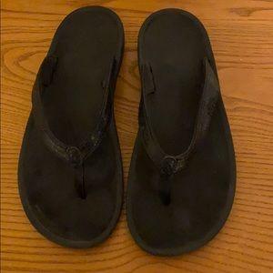 OluKai flip flops size 9 black